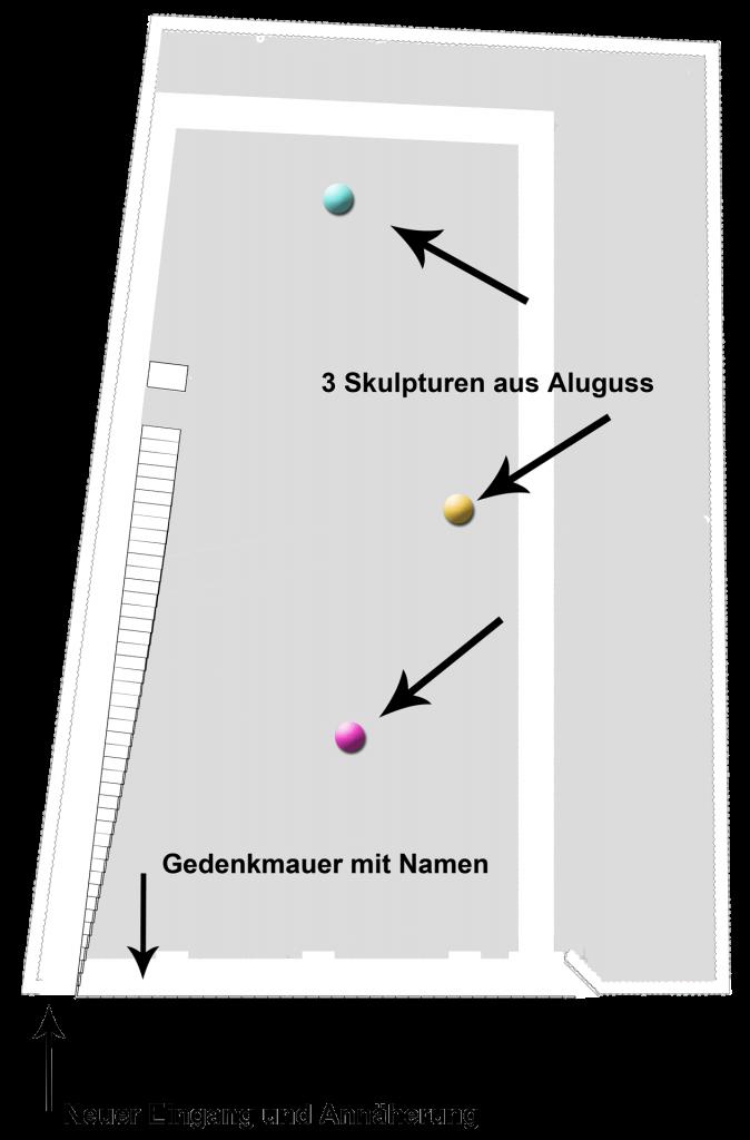 Grundriss der Gedenkstatte Waldniel